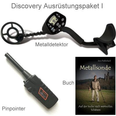 Discovery 3300 Metalldetektor Ausrüstungspaket mit Black Huntmate Pinpointer