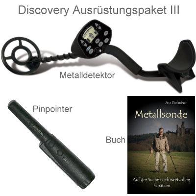 Discovery 3300 Metalldetektor Ausrüstungspaket mit Quest Xpointer Pinpointer