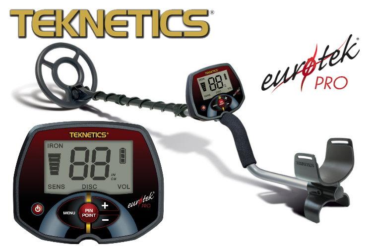 Teknetics Eurotek PRO (LTE) Ausrüstungspaket III (Metalldetektor & Quest Xpointer & Schatzsucherhandbuch)