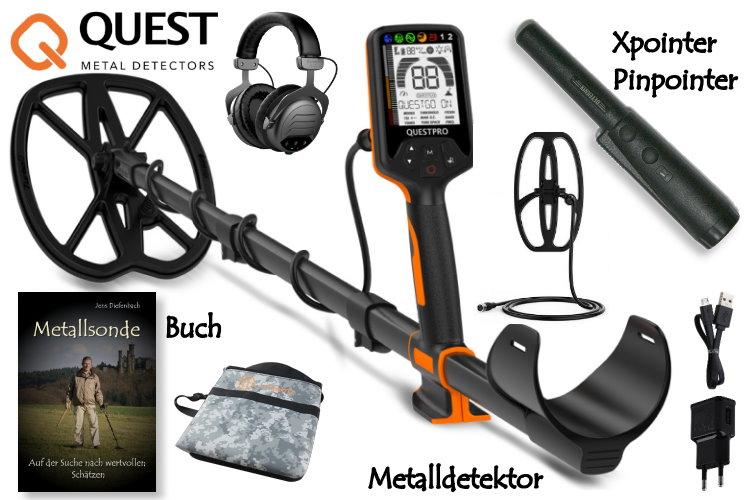 Quest PRO Metalldetektor & Xpointer Pinpointer & Schatzsucherhandbuch