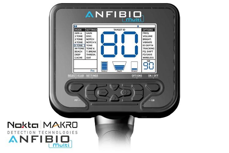 Nokta/Makro Anfibio Multi Metalldetektor mit Funkkopfhörer und zusätzlicher Suchspule