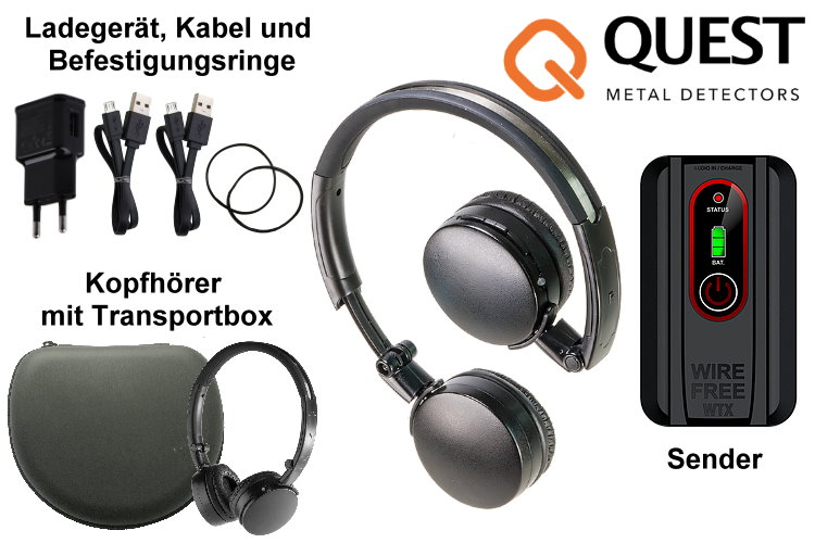 Quest Metalldetektor Funkkopfhörer